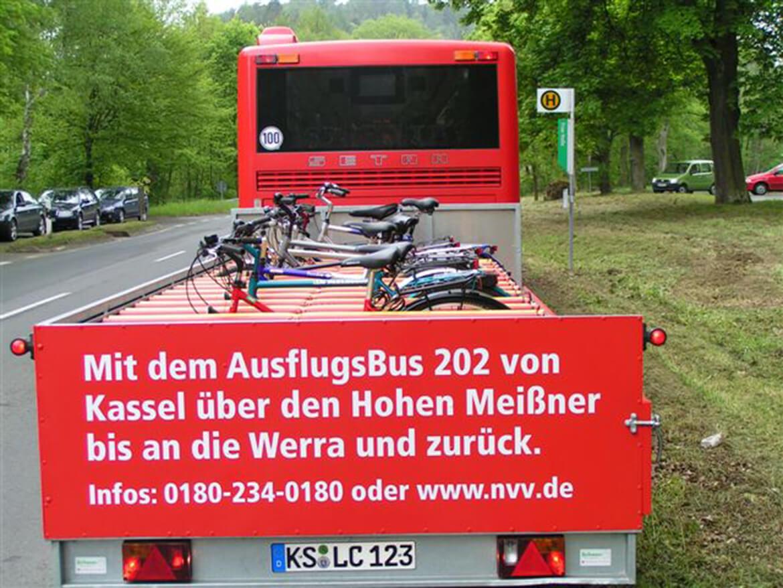 Bus Anhänger für 12, 16 oder 20 Fahrräder. Geeignet für fast alle Fahrradarten vom Mountainbike, Hollandrad oder E Bike