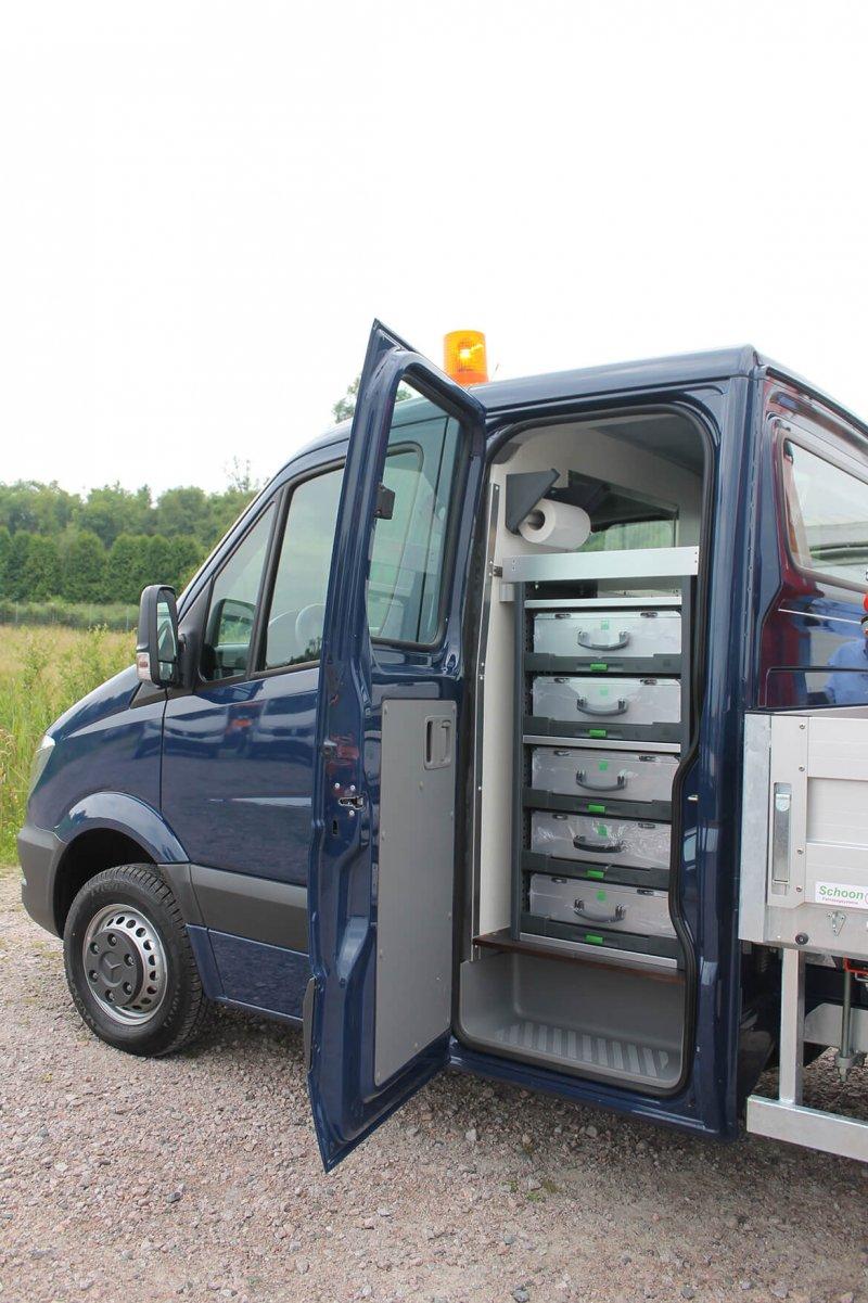 Doppelkabine Mit Schoon Fahrzeugeinrichtung
