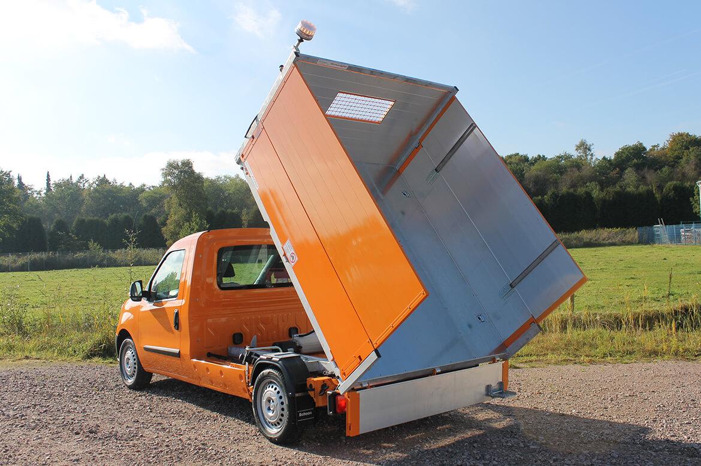 Fiat Doblo Kipper Erhöhte Bordwände Kommunal Orange Rundumkennleuchte (7)
