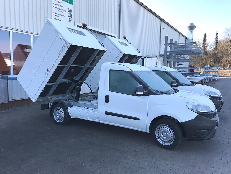 Fiat Doblo als Abfall und Strassenreinigung mit Schoon Kipper, Bordwandaufsatz, Lackierung (2)
