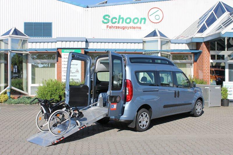 Fiat Doblo Mit Schoon Rollsuhlumbau, BIG Rollstuhlrampe