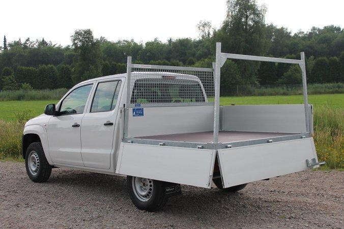 Fiat Fullback Double Cab Mit Schoon Pritsche, Siebdruckboden, Stirnwandgitter Und Heckauflagegestell