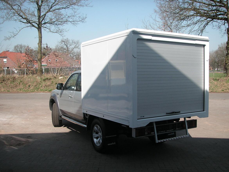 Ford Ranger Extrakabine mit Schoon Kofferaufbau