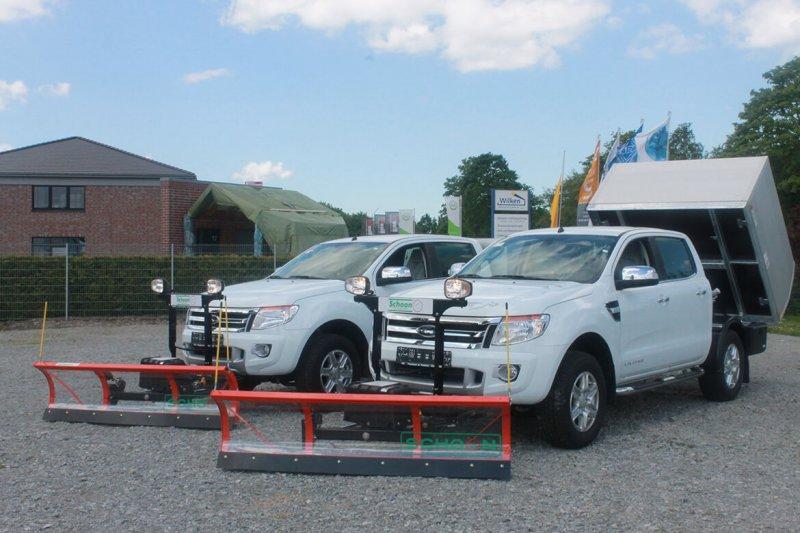 Ford Ranger Mit Schoon Kipper Integriert Mit Winterdienst Schneeschild, Streugutbehälter