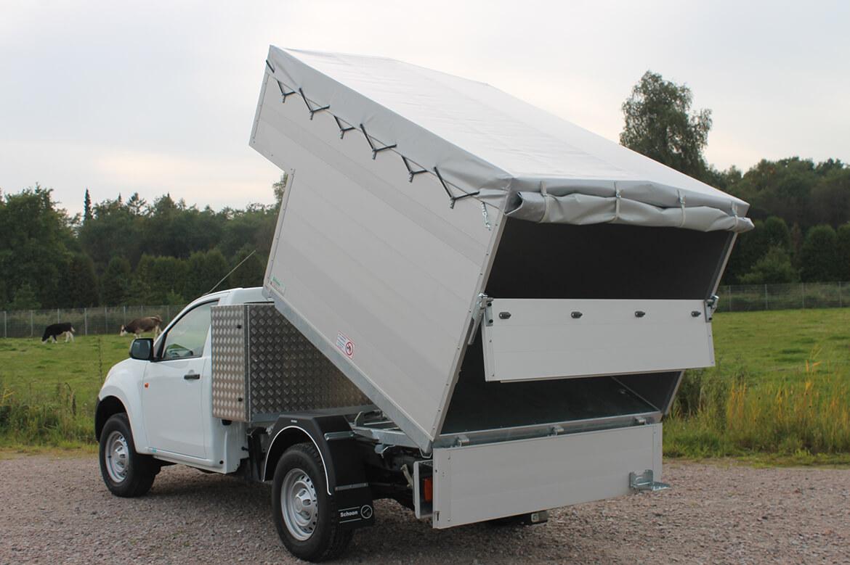 Isuzu D Max Single Cab Kipper Werkzeugkiste Plane, Abfall Häcksel Sammel Kipperaufbau