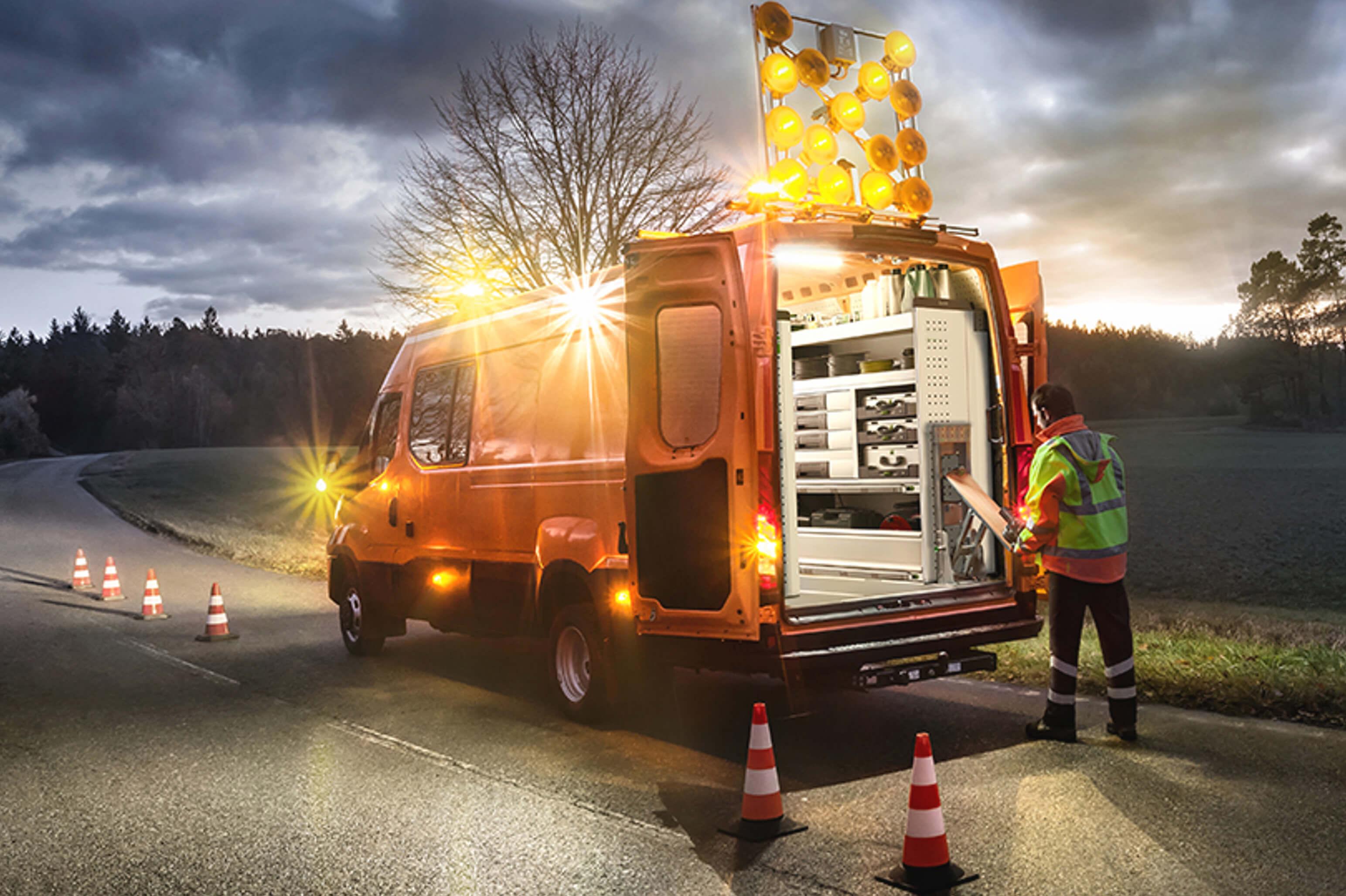 Iveco Daily mit der neuen Fahrzeugeinrichtung