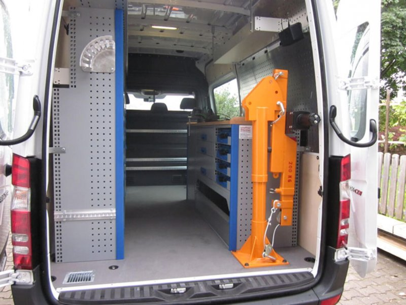 Kastenwagen Mit Schoon FSK Kran