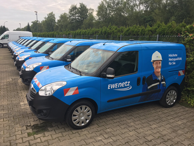 Opel Combo Servicefahrzeuge mit Schoon Fahrzeugeinrichtung