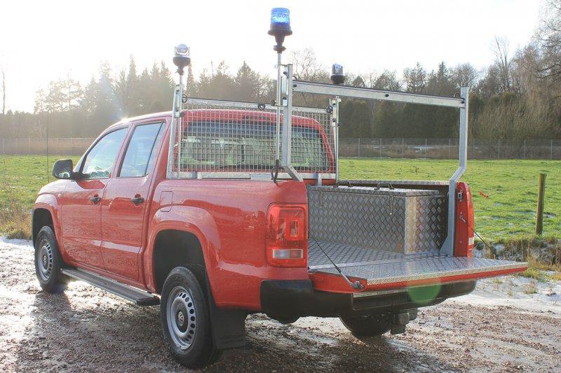 Pickup Werkspritsche Mit Schoon Heckauflagegestell