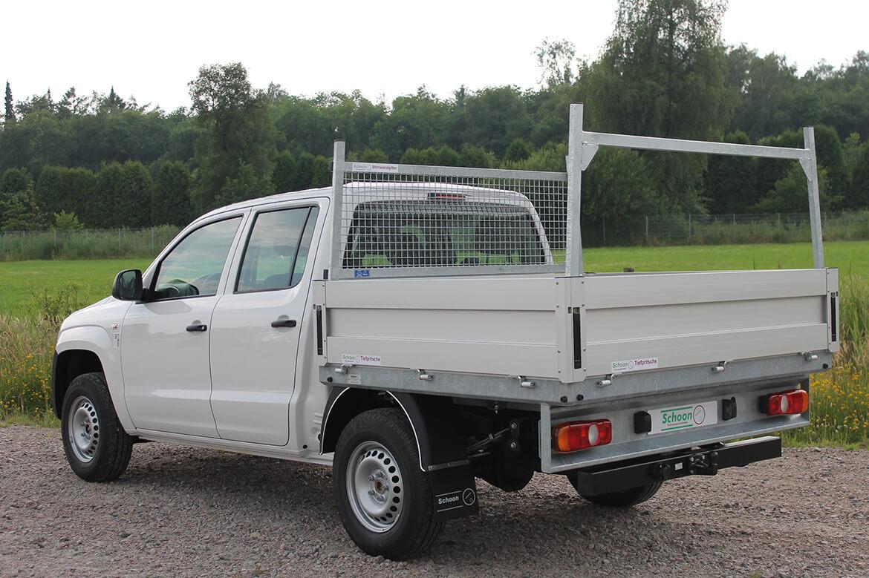 Pickup mit Schoon Pritsche und Heckauflagegestell