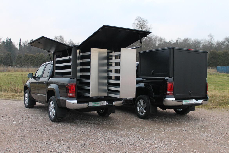 Promotionfahrzeuge mit Schoon Hardbox und Innenausbau