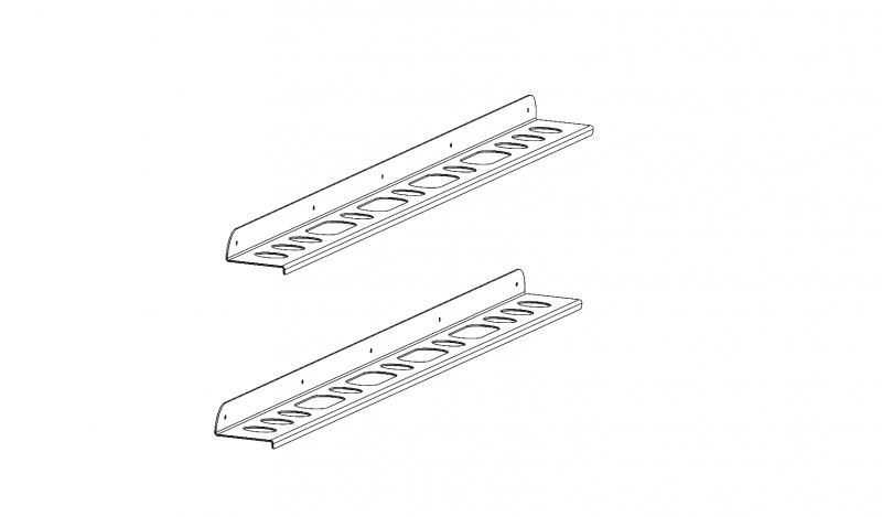 Schaufel und Besenhalter montiert am Stirnwandgitter (3)