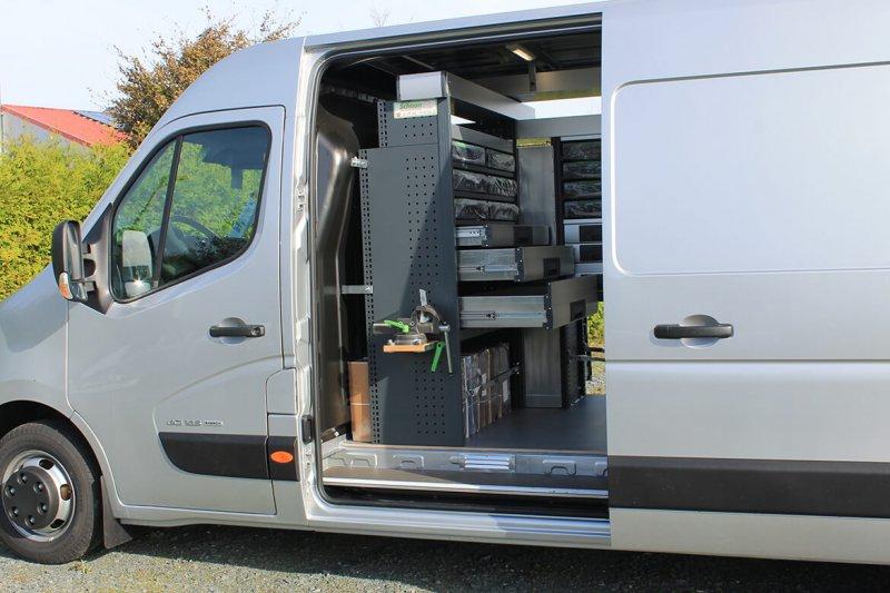 Schoon Fahrzeugeinrichtung Ergonomische Anbringung Der Schubladen Zur Seitenschiebetür