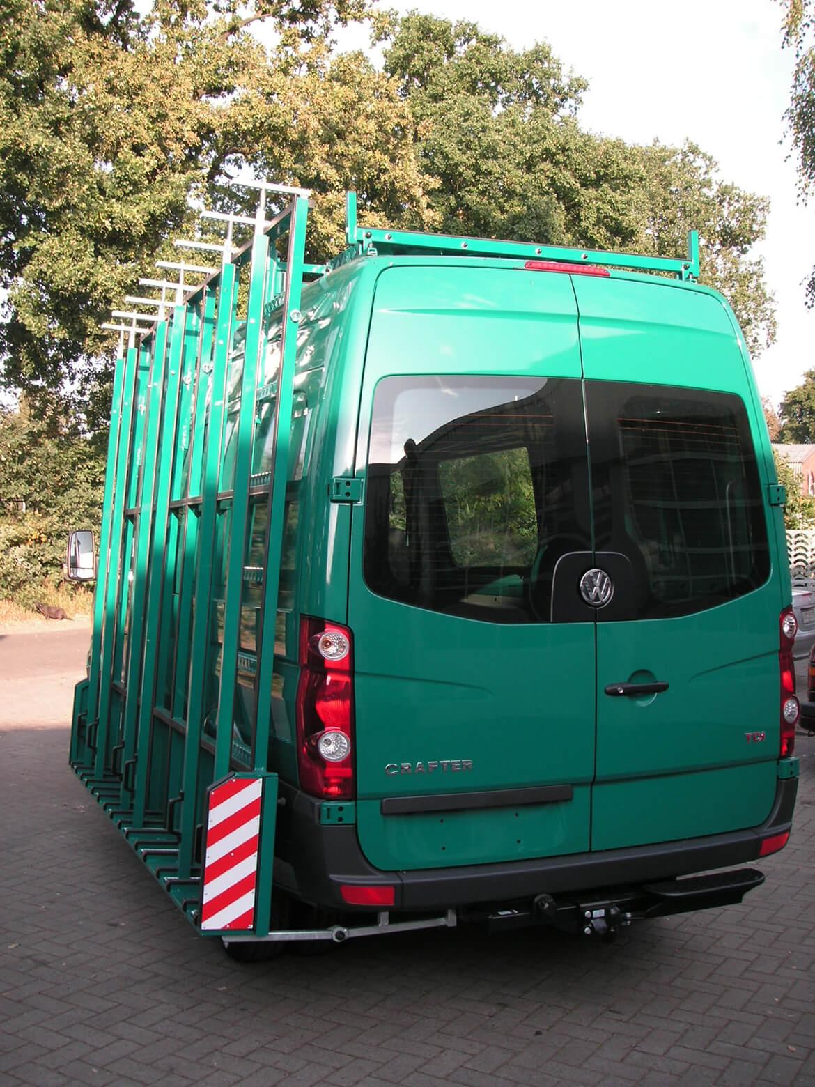 Schoon Glasreff für Kastenwagen lackiert in Wagenfarbe