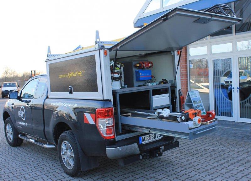 Schoon Hardbox Mit Regalsystem, Dachträger Und Leiter