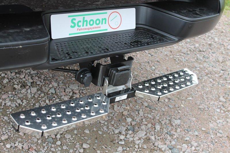 Schoon Heckauftritt Mit Anhängekupplung Für Pickup