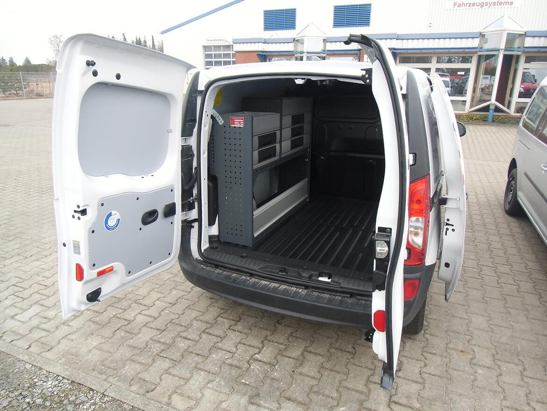 Schoon Werkstattwagen Innenausbau Servicefahrzeug EWE Anschluss Anhängerkupplung 1800 kg für technische Bau Dienstleistungen (1)
