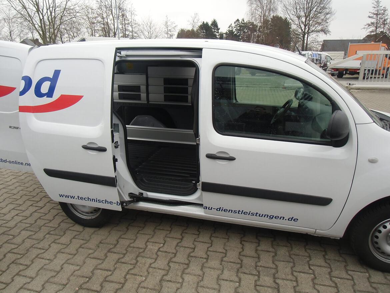 Schoon Werkstattwagen Innenausbau Servicefahrzeug EWE Anschluss Anhängerkupplung 1800 kg für technische Bau Dienstleistungen (2)