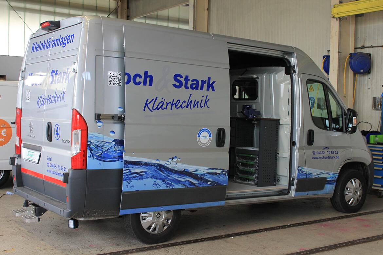 Schoon Werkstattwagen für die Klärtechnik mit Fahrzeugeinrichtung, Fahrzeugbeschriftung (1)