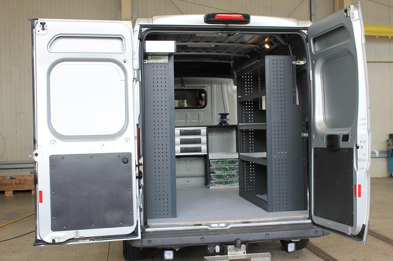 Schoon Werkstattwagen für die Klärtechnik mit Fahrzeugeinrichtung, Fahrzeugbeschriftung (3)