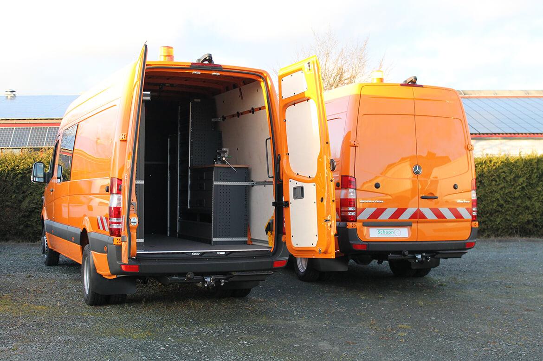 Schoon Werkstattwagen mit Fahrzeugeinrichtung für Straßenmeisterei, Kommunalbetrieb, Bauhof