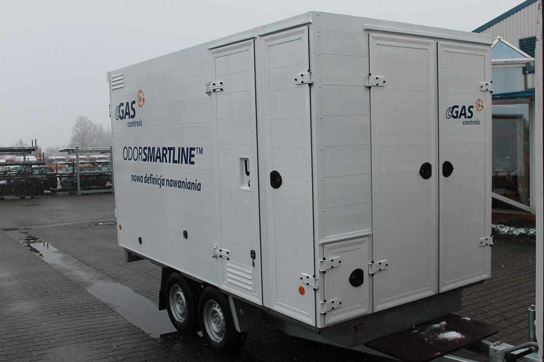 Spezialanhänger mit vielen Türen, Klappen, Schubfächern u.v.m. cGAS controls odorsmartline, innovatives System der Gasodorierung (1)