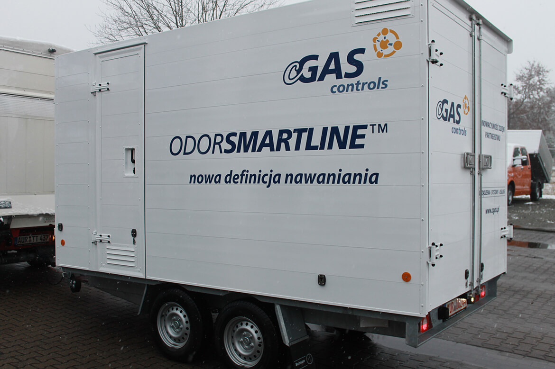 Spezialanhänger mit vielen Türen, Klappen, Schubfächern u.v.m. cGAS controls odorsmartline, innovatives System der Gasodorierung (2)