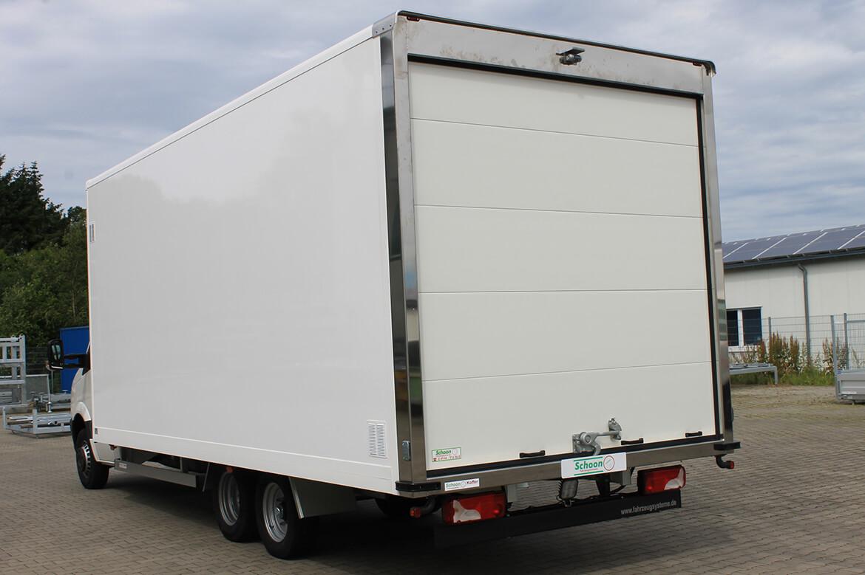 VW Crafter Bäckerfahrzeug, Schoon Koffer, Rampe, Rolltor, Systemgestänge, Zusatzachse (2)