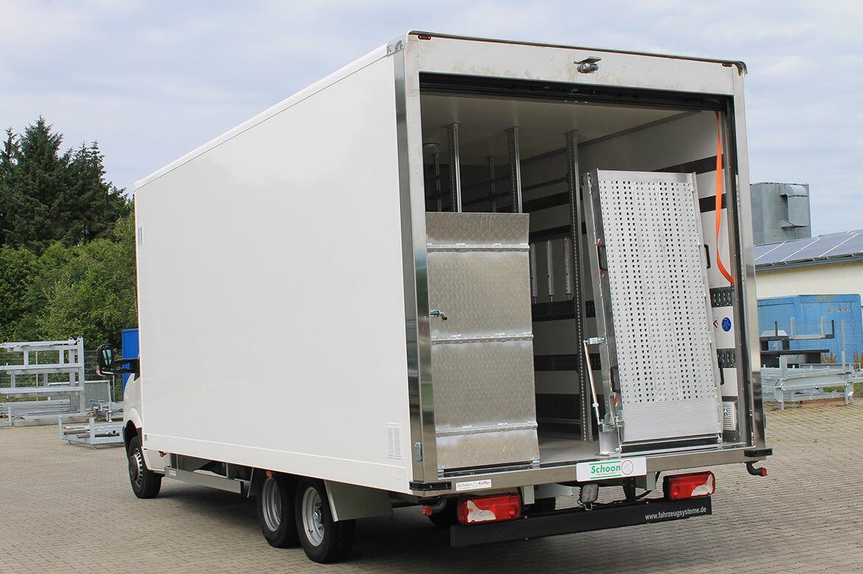 VW Crafter Bäckerfahrzeug, Schoon Koffer, Rampe, Rolltor, Systemgestänge, Zusatzachse (4)