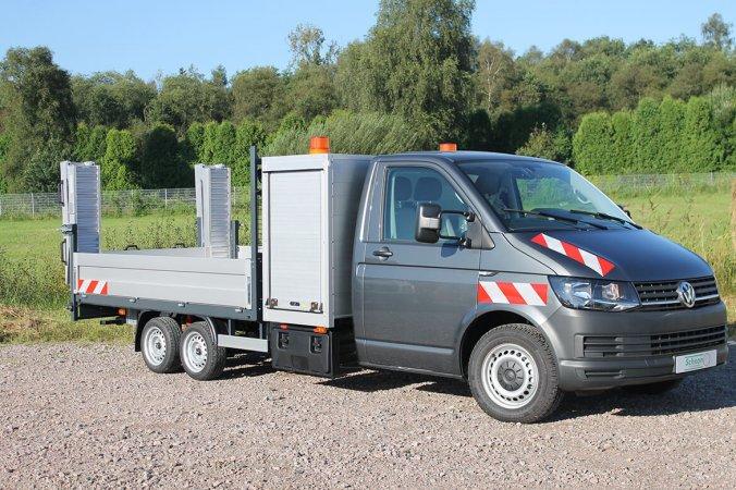 Volkswagen Nutzfahrzeuge Transporter, AL KO Chassis, Gerätekasten, Schoon Pritsche mit FS Rampen (3)