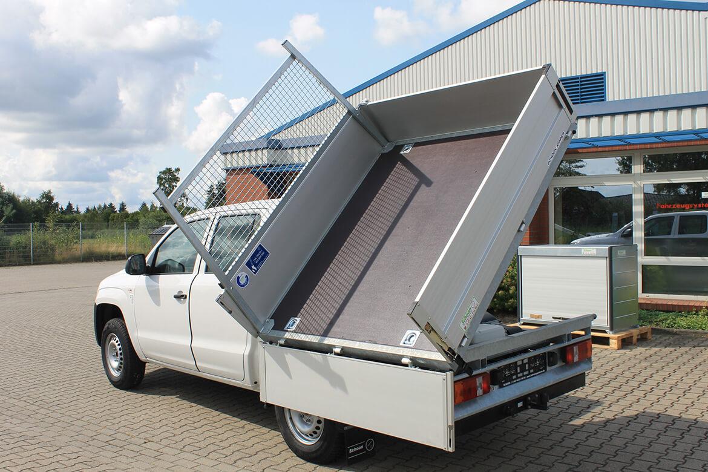 Volkwagen Nutzfahrzeug Amarok mit Schoon Kipper, Siebdruckboden, Stirnwandgitter